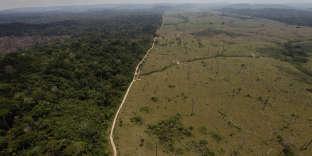 Zone déforestée près deNovo Progresso (Para), au Brésil, en 2009.