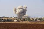 Bombardement près d'Idlib en Syrie, le 10 septembre 2018.