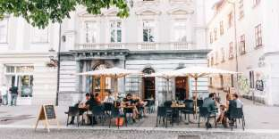 Le bar à vin Suklje à Ljubljana.