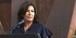 Anne Hidalgo à Los Angeles, le 11 septembre.