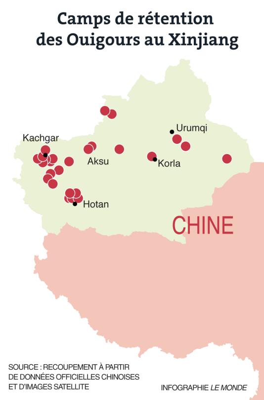 Ouïgours, camps de rétention