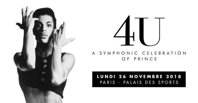 Affiche de l'hommage symphonique à Prince, au Dôme de Paris-Palais des sports, le 26 novembre.