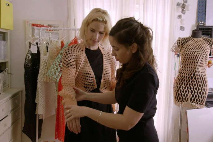 Vêtements réalisés avec des imprimante 3D par la styliste israélienne Danit Peleg, à Tel Aviv.