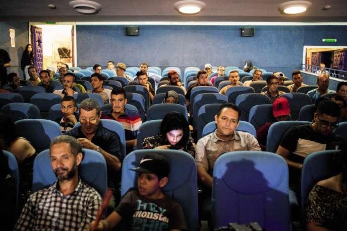 Lors des Rencontres cinématographiques de Béjaïa en 2017.