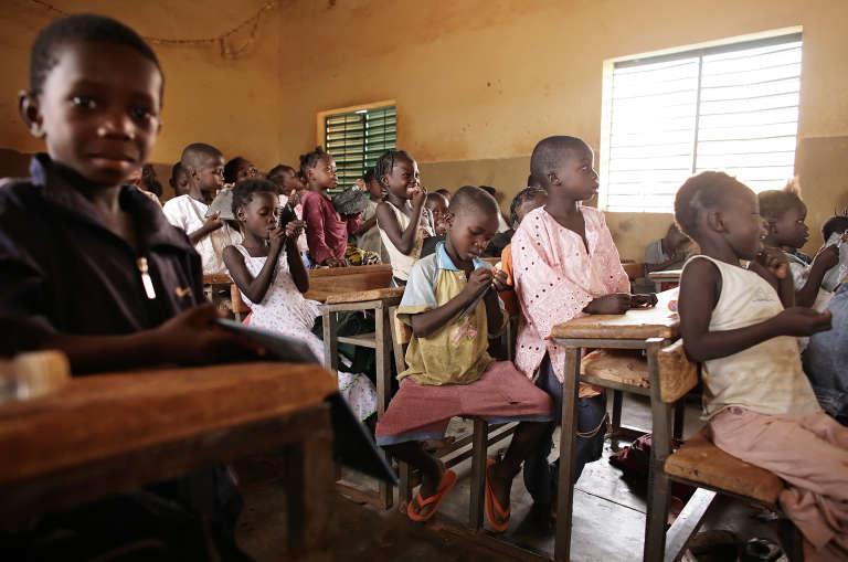 Dans une école à Ouagadougou, au Burkina Faso, en avril 2008.