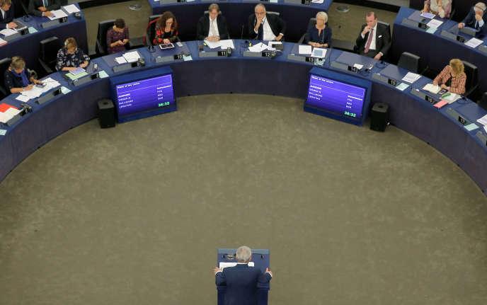 Le président de la Commission européenne livre son dernier discours sur l'état de l'Union, mercredi12 septembre, au Parlement européen à Strasbourg.