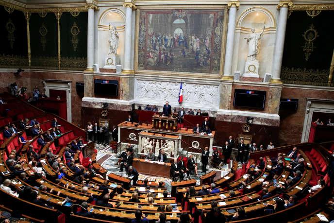 Vue de l'Assemblée nationale, le 12 septembre.