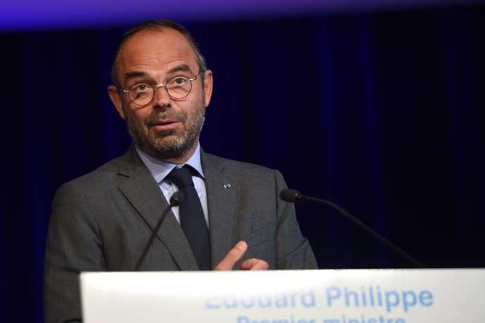 Le premier ministre, Edouard Philippe, lors du séminaire de rentrée de La République en marche, à Tours (Indre-et-Loire), le 11 septembre.