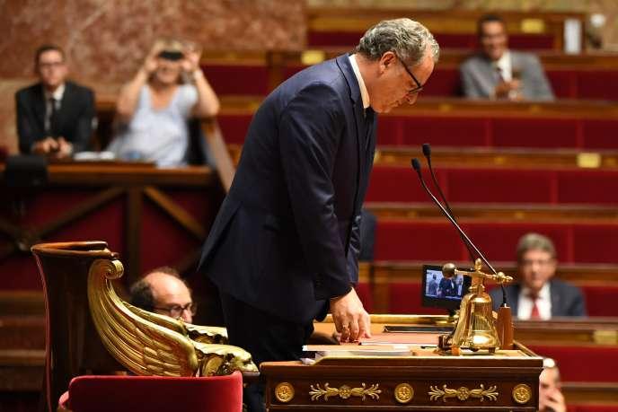 Richard Ferrand, président de l'Assemblée nationale, en septembre 2018.