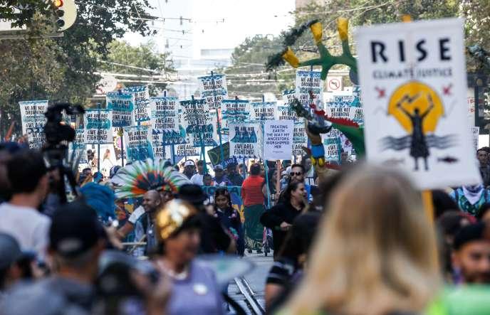 Le grand rassemblement pour le climat, à San Francisco, le 8 septembre.