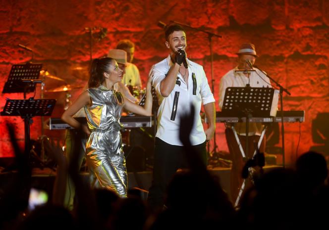 Le chanteur marocain Saad Lamjarred au Festival international de Carthage, en Tunisie, en juin 2016.
