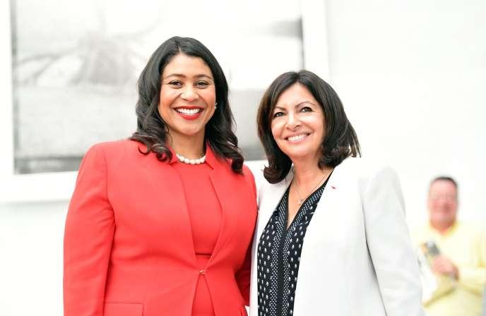 La maire de Paris, Anne Hidalgo, s'est rendue au sommet de San Francisco où elle a rencontré la maire de la ville californienne, London Breed.