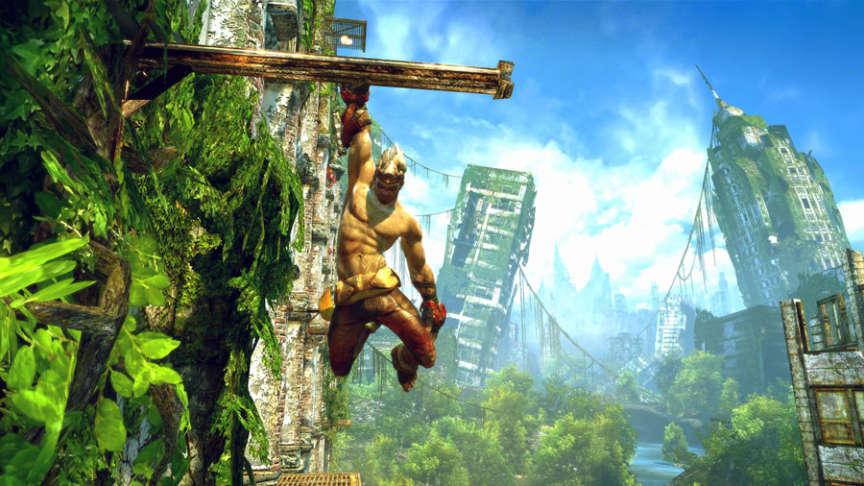 Monkey, le héros d'«Enslaved», relecture occidentale de la légende du roi singe, en 2010.