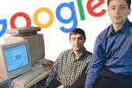 Larry Page et Sergey Brin dans le garage de Menlo Park où est installé Google en 1998.
