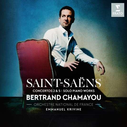 Pochette de l'album« Saint-Saëns», avecBertrand Chamayou (piano), Orchestre national de France, Emmanuel Krivine (direction).