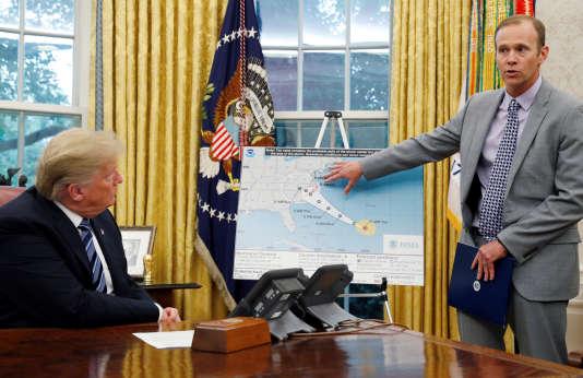 Donald Trump, lors d'une réunion sur l'ouragan Florence, à la Maison Blanche, le 11 septembre.