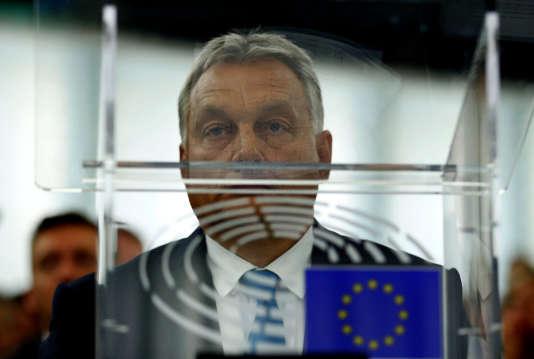 Viktor Orban, au Parlement européen, à Strasbourg, le 11 septembre.