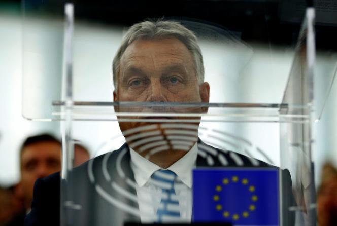 Le premier ministre Viktor Orban, au Parlement européen, à Strasbourg, le 11 septembre.