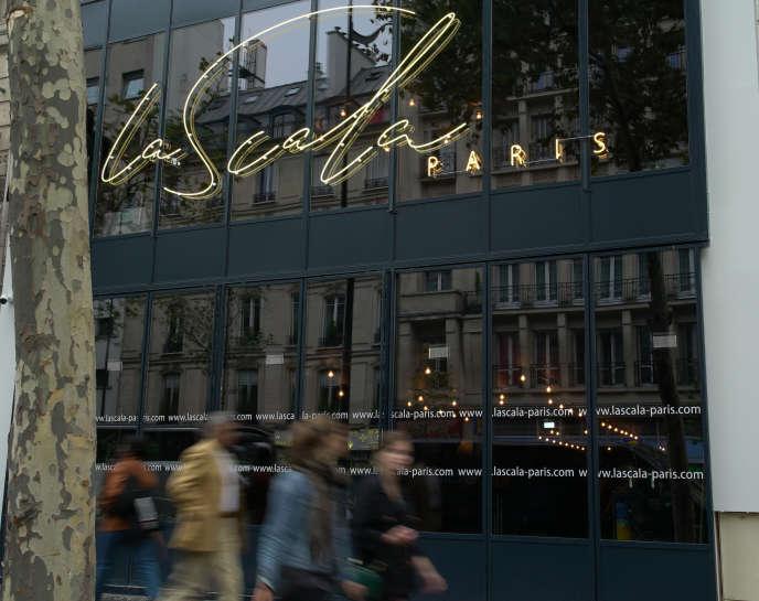 La façade de La Scala Paris, nouvelle salle de spectacles, boulevard de Strasbourg.