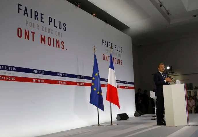 Emmanuel Macron présente son plan pauvreté, le 13 septembre.