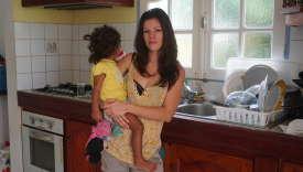 Bandine Mazé chez elle à Sainte-Rose, en Guadeloupe.