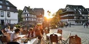 La Petite France, l'endroit le plus pittoresque de la vieille ville, bâti au bord de l'Ill.