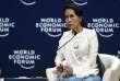 La dirigeante birmane, Aung San Suu Kyi, au Forum économique mondial de l'Asean, àHanoï, le 13 septembre.