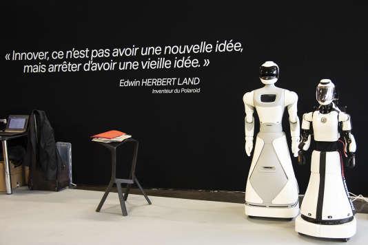 Les robots de Cybedroïd, au festival Novaq, à Bordeaux, le 13 septembre 2018.