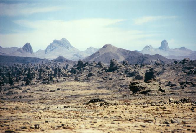 Les montagnes du Tibesti, au Tchad.