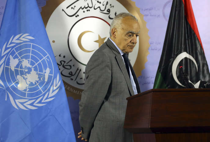 Ghassan Salamé, le chef de la Mission des Nations unies pour la Libye, à Tripoli, le12septembre.