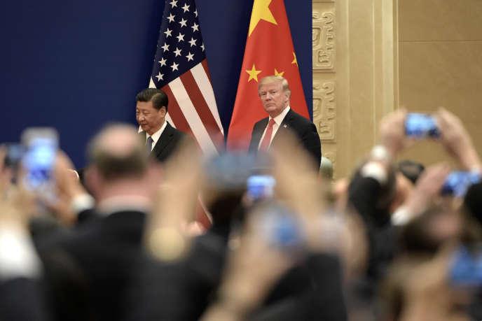 Le président américain Donald Trump et son homologue chinois Xi Jinping, à Pékin , le 9 novembre 2017.