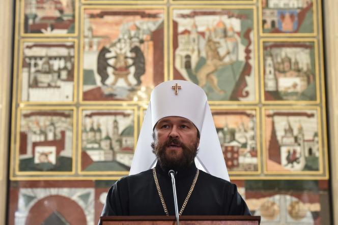 Le métropolite Hilarion, responsable des relations extérieures de la patriarchie de Moscou, le 14 septembre, à Moscou.