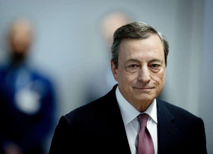 Le président de la Banque centrale européenne, Mario Draghi, lors de sa conférence de presse du 13 septembre, à Francfort (Allemagne)