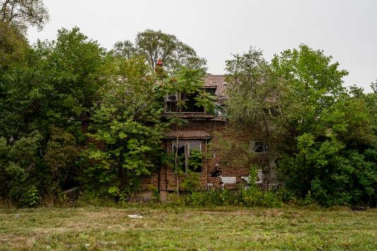 Maison abandonnée dans le quartier de La Salle, à Detroit (Michigan), le 13 septembre.