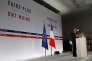 Le président français, Emmanuel Macron, lors de l'annonce du plan pauvreté, le 13 septembre 2018 à Paris.