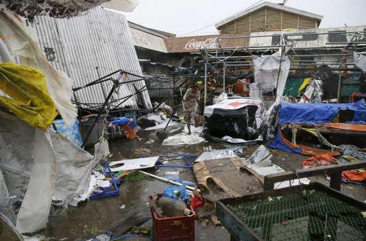 La ville de Tuguegarao, dans la province de Cagayan, dans le nord-est des Philippines, le 15 septembre.