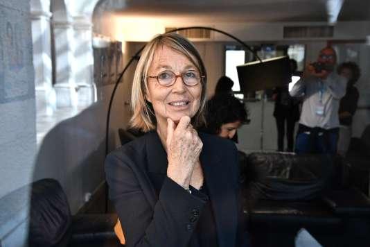La ministre de la culture, Françoise Nyssen, lors du Festival de la fiction TV, à La Rochelle, le 14 septembre.