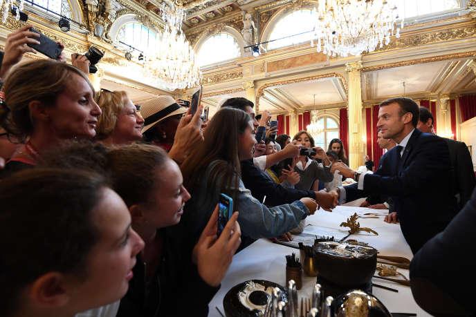 «Nul n'est contraint, a priori, de marcher en cadence. C'est pourtant, dans nos démocraties, ce qui vient» (Emmanuel Macron à l'Elysée, le 15 septembre, lors des Journées du patrimoine).