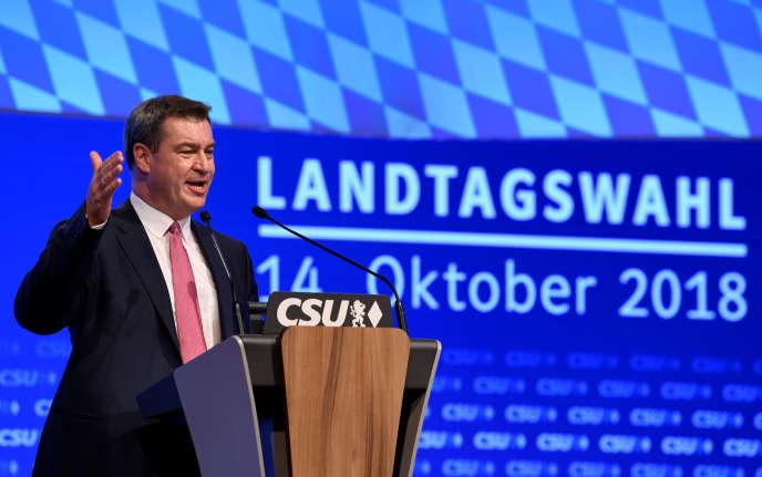 Markus Soeder à Munich le 15 septembre