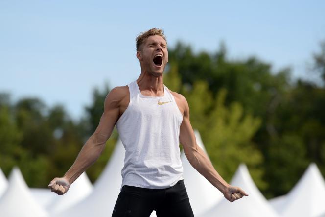 L'athlète français Kevin Mayer lors du Défi mondial des épreuves combinées «Decastar» de l'IAAF à Talence, dans le sud-ouest de la France, le 16 septembre 2018.