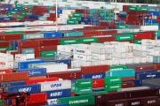 Vue générale des conteneurs dans le port du Havre, au nord-ouest de la France, le 6 septembre 2018.