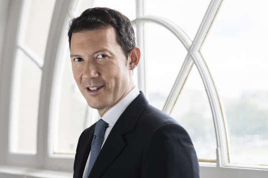 Benjamin Smith au siège d'Air France, à Paris, le 21 août. L'image est diffusée par la compagnie.