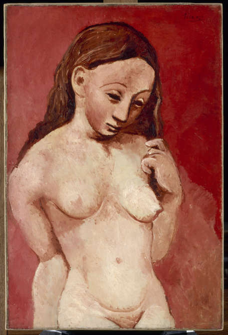 Puis surgit une nouvelle manière de peindre: Picasso simplifie les formes et utilise désormais des ocres. L'artiste tend à se libérer de ces deux périodes pour aller vers un art géométrique, plus proche des œuvres de Paul Cézanne, annonçant ce qui sera nommé plus tard le «cubisme».