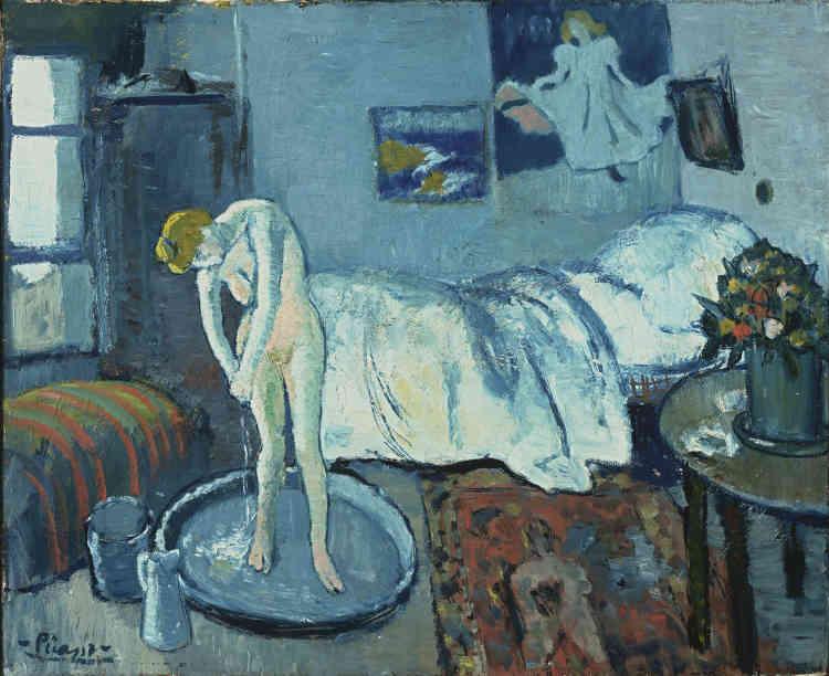 Cette peinture offre plusieurs variations de bleus. Pour Picasso, «c'était une nécessité intérieure de peindre ainsi». Il était aussi un habitué du travail de nuit où ses toiles étaient souvent éclairées à la lampe à pétrole.