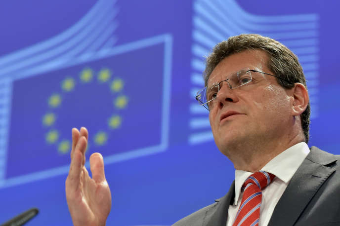Le vice-président, slovaque, de la Commission européenne en charge de l'énergie,Maros Sefcovic, le 1er juillet 2015.