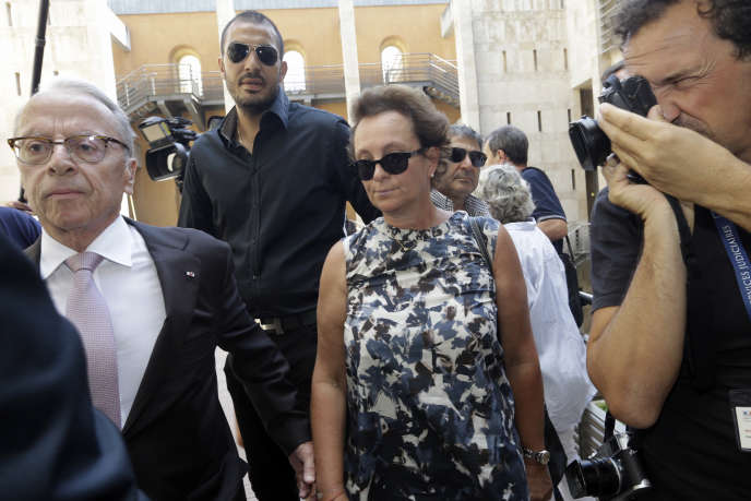 SylviaRatkowski, fille d'Hélène Pastor, au tribunal d'Aix-en-Provence, le 17 septembre.