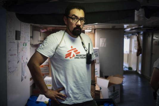Carlos Jamarillo, 43 ans, est le médecin de l'équipe MSF à bord de l'«Aquarius».