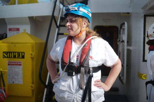 Liza Courtois, 29 ans, infirmière pour MSF à bord de l'«Aquarius».