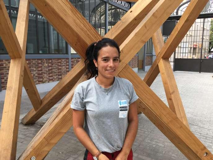 Salomé Valdes,ingénieure titulaire d'un double diplôme architecture, bois et construction de l'Enstib et de l'Ecole nationale supérieure d'architecture de Nancy, a décidé de parfaire sa formation des métiers du bois avec une année de compagnonnage.