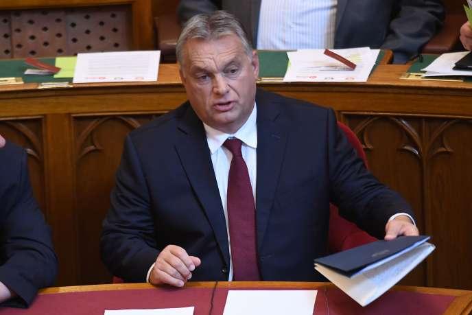 Viktor Orban, le premier ministre hongrois, au Parlement, à Budapest, le 17 septembre 2018.